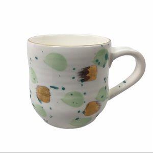ANTHROPOLOGIE   mug green gold Mimira Suite One